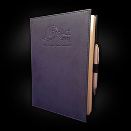 Navy Leatherbound Journal with Ballpoint Pen